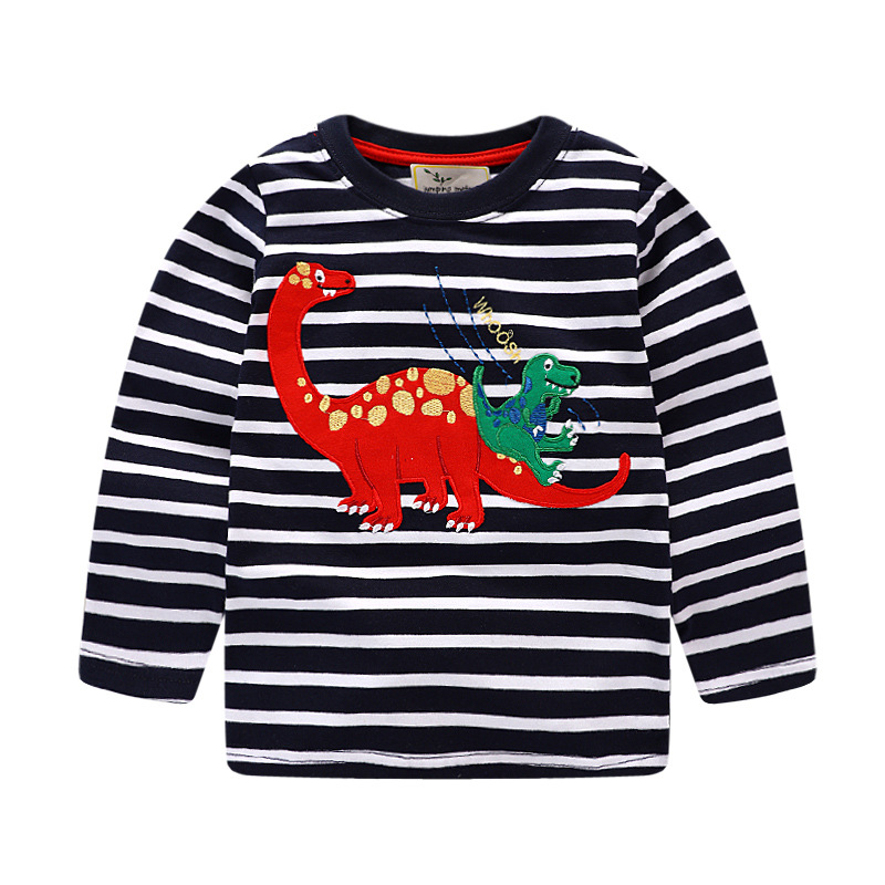 1-8 years Boys T-shirt Kids Tees Baby Boy brand t shirts Children tees Long Sleeve 100% Cotton cardigan sweater jacket shirts