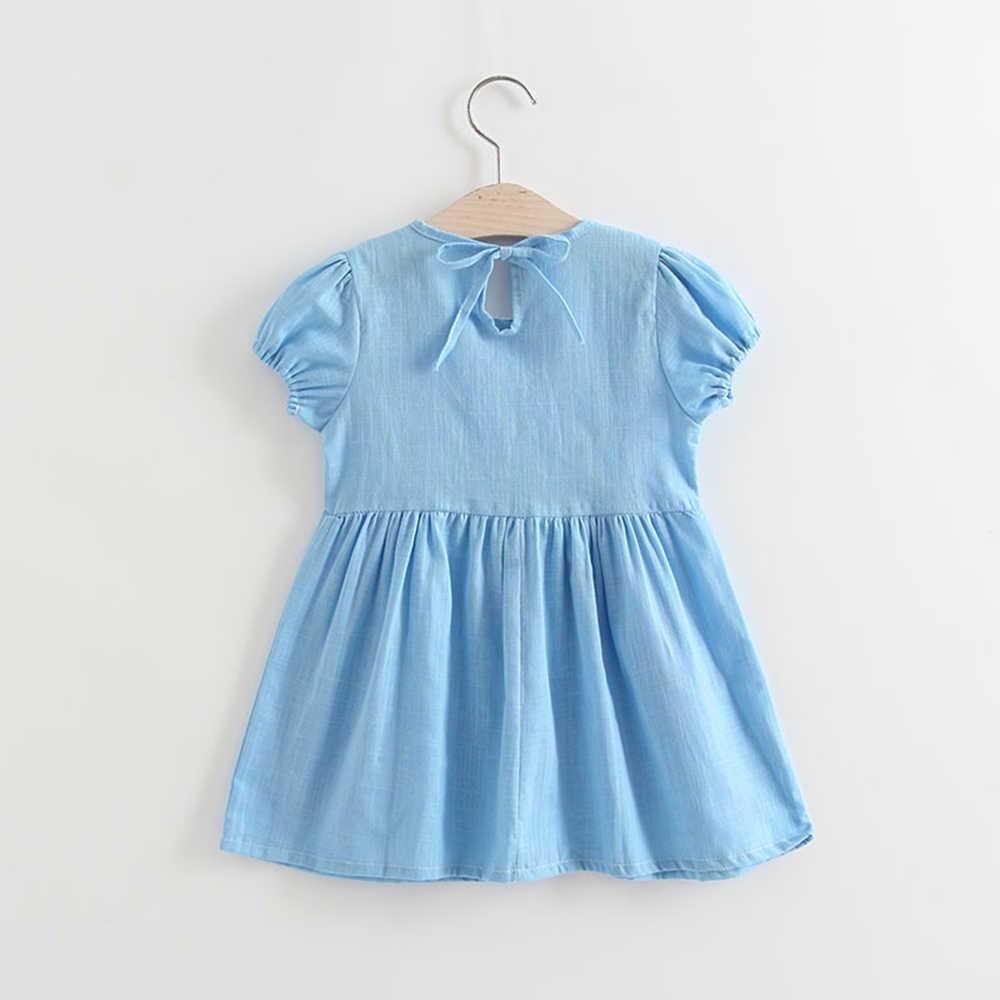 สาวฤดูร้อนชุดพัฟ Party Elegant ชุดเจ้าหญิงชุดเด็กน่ารักชุดตุ๊กตา vestido Dropship