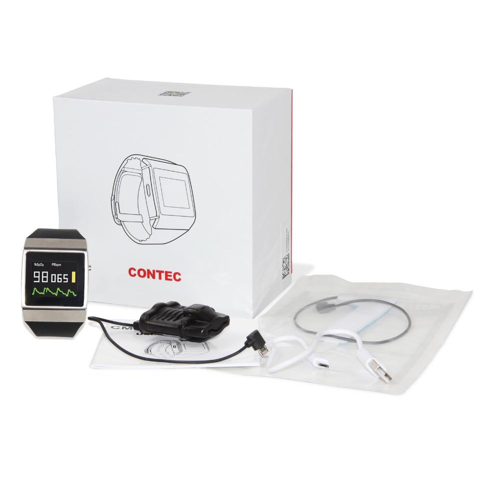 Livraison gratuite CONTEC CE CMS50K mode intelligente portable sans fil Bluetooth SpO2/ECG moniteur populaire