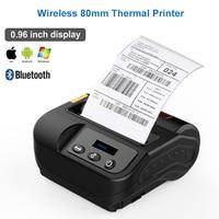 Wireless Portable mini Mobile Thermal Barcode Non dry Sticker Labeling Printer 80mm POS Thermal Printer label printer Bluetooth