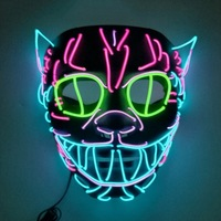 New Halloween Mask America And Party LED Europe Cute Light Toys Children's Carnival Makeup Neon Elvis Masks Maska Style