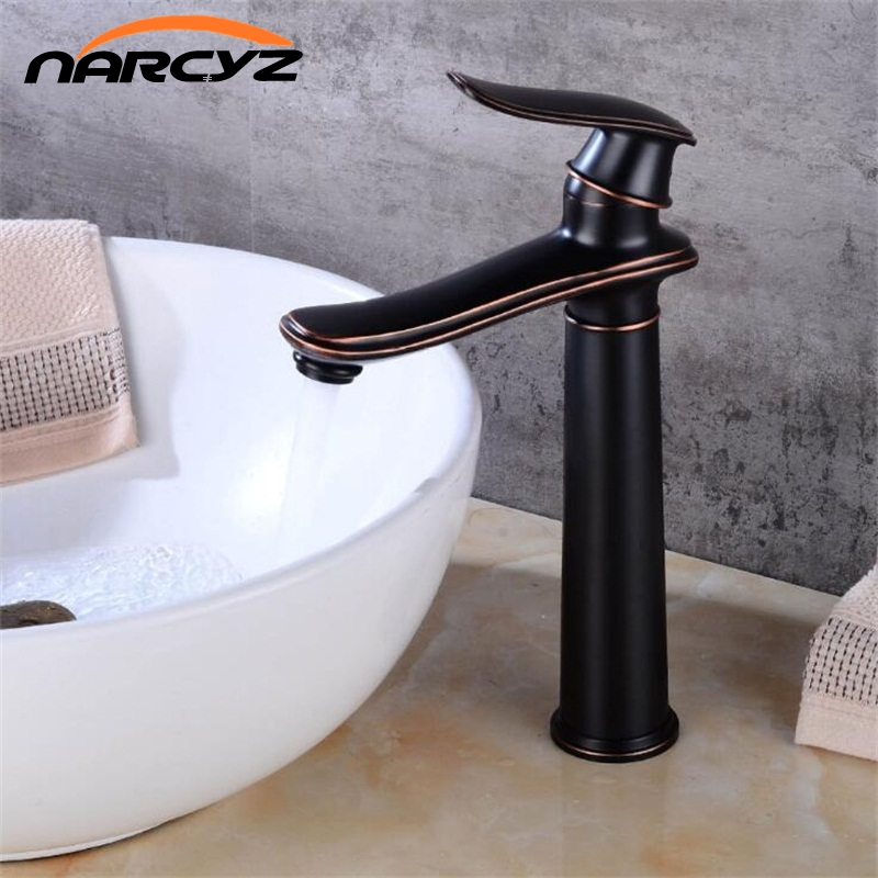 Luxury Modern Design Basin Mixer Faucet Vertical Deck Mounted Bathroom Brass Chrome Hot and Cold Taps One Handle Faucet B545