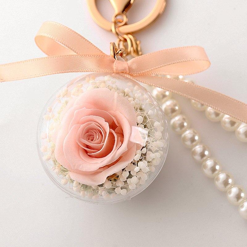 Романтический рождественский подарок для женщин вечные подвески в форме роз украшение автомобиля цветы сушеные цветы Висячие для сумки/брелок - Цвет: 05