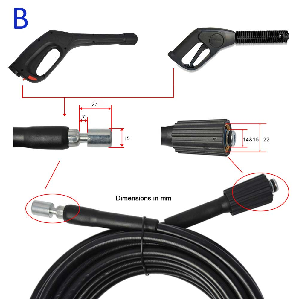 6m 10m 15m High Pressure Washer Hose Water Cleaning Hose Pipe Car Washer Extension Hose Cord