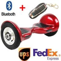 10 дюймов Ховерборды два колеса smart self баланс скутер Secure батарея ХОВЕРБОРДА с Bluetooth надувные шины ХОВЕРБОРДА