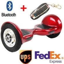10 zoll hoverboards Zwei rad intelligente selbst balance roller Sichere batterie hoverboard mit Bluetooth Aufblasbare reifen hoverboard