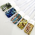 10 sheets water transfer nail stickers decals for nail art tips decorations styling tools Flower Leopard Tiger designs