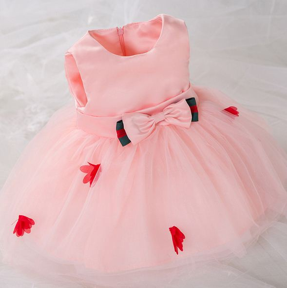 Lace Flower Baby Girl Dress Baptism Dresses For Girls 1st Year Birthday Party Wedding Christening Baby Clothes Clothing