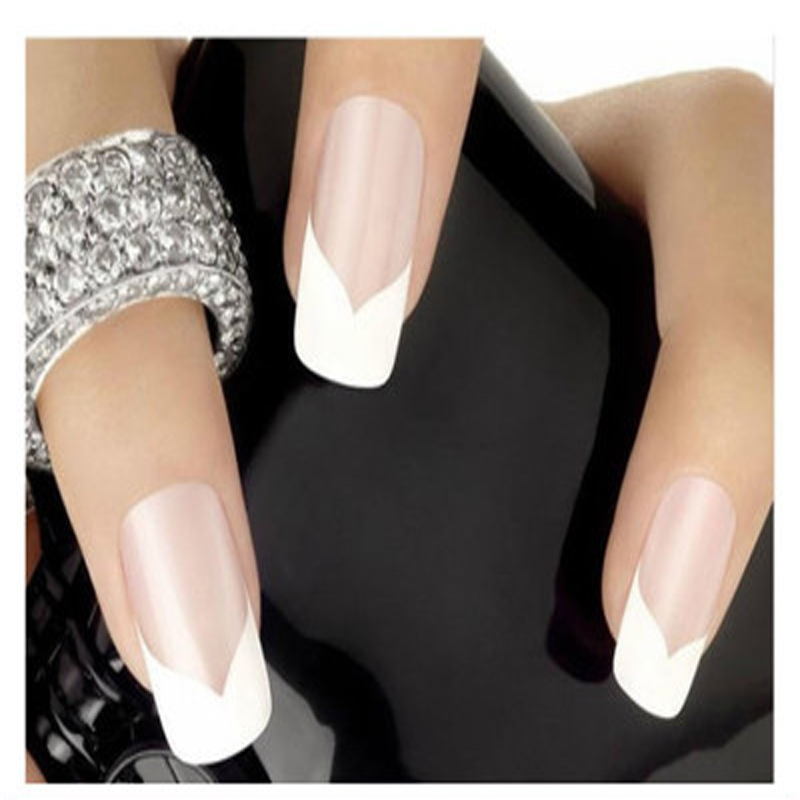 240pcs beauty diy french manicure nail art decorations round form fringe guide nail stickers stencil for nails stickers manicure in stickers decals from