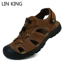 Outdoor Sandals KING Genuine-Leather Beach-Shoes Non-Slip Breathable Summer 50 Man LIN