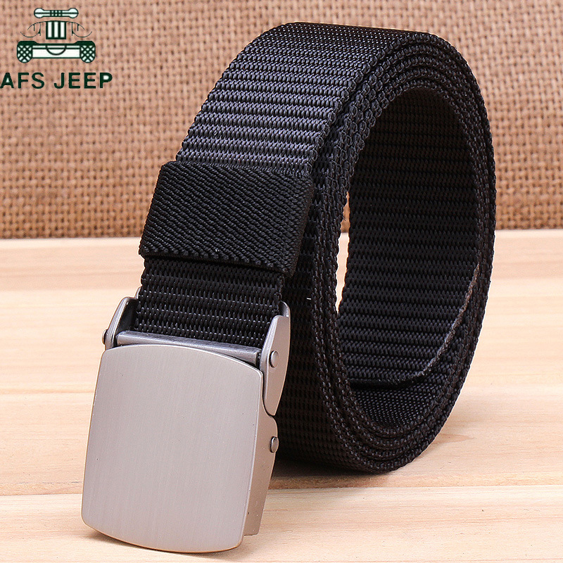 Military Tactical Nylon   Belts   Men Army Combat Heavy Duty Adjustable   Belt   Male Quick Dry Breathable Automatic Plastic Buckle   Belt