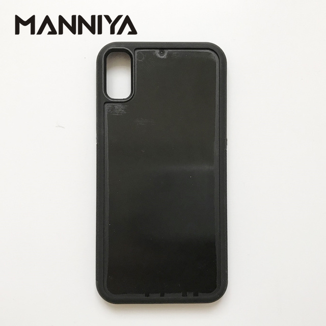 quality design 2c8e2 e266c US $60.0 |MANNIYA DIY empty groove rubber TPU+PC phone Case for iphone X/XS  without inserts Free Shipping! 50pcs/lot-in Half-wrapped Case from ...