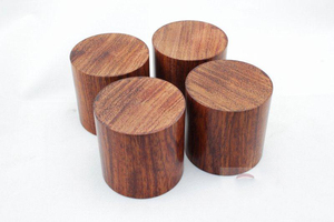 Image 3 - 4PCS Rosewood HiFi Audio Speakers Amplifier Chassis Anti shock Shock Absorber Foot Feet Pads Vibration Absorption Stands 45*45mm