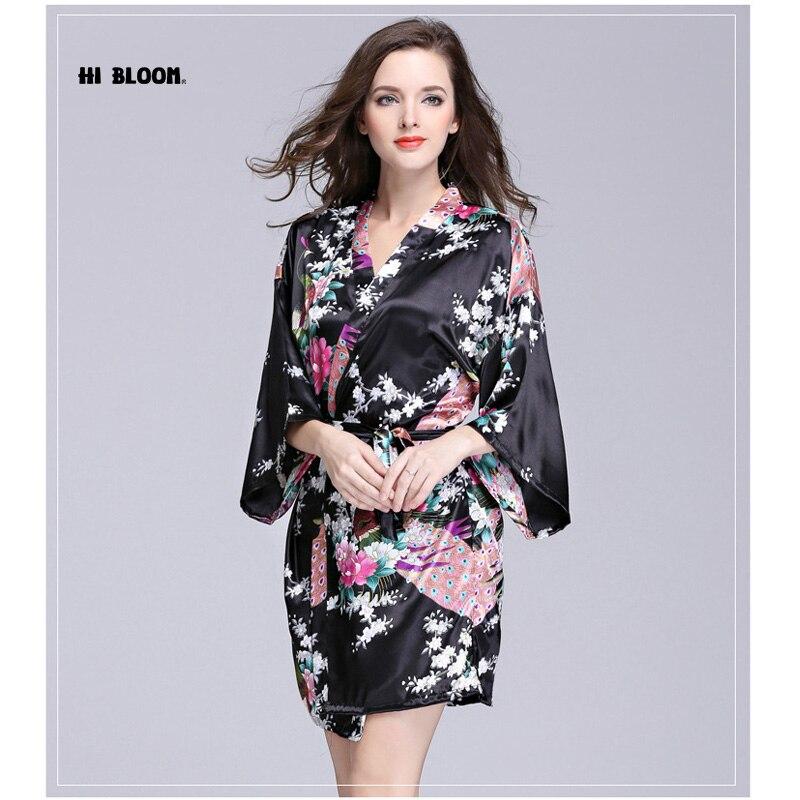 Подарок на день Святого Валентина шелковые кимоно халат Для женщин атлас халат Longue Femme ночь элегантный Халаты ночь расти для невесты летние