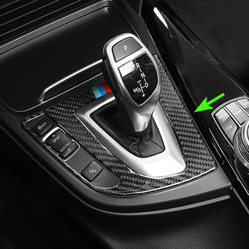 Luxury Carbon Fiber For BMW 3 4 Series F30 F33 Car Gear Shift Knob Panel Accessories Cover Overlay executive car