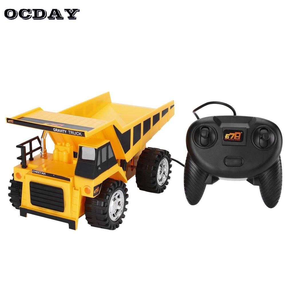 Kids RC Trucks Bulldozer Charging RTR Dump-car Remote Control rc Truck Construction Vehicle Cars Children Christmas Gift Toys