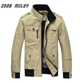 ZOOB MILEY 2016 New Men's Causal Jackets and Coats for Autumn & Winter Plus Size 3XL 100% COTTON Long Sleeve Outerwear Overcoat