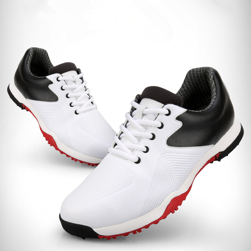 The 2019 paragraph! MO EYES Golf Men's Waterproof Shoes Wide Edition Comfortable Super Soft Sole Waterproof