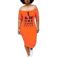 Облегающее платье-карандаш, женское летнее Хлопковое платье размера плюс, длинное платье макси, модное Повседневное платье с буквенным принтом и вырезом лодочкой, платье до середины икры Z4