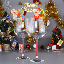 oh trend special colored wine glass toasting set crystal - Christmas Drinking Glasses