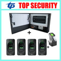 INBIO460 4 puertas del panel de control de acceso sistema de control de acceso con lector FR1200 de huellas digitales de control de acceso TCP/IP de software libre