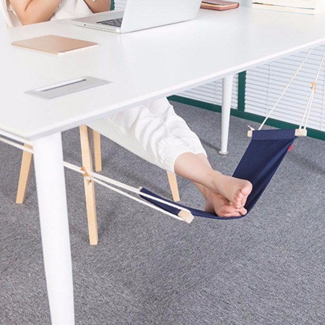 Portable Office Foot Stand Adjule Travel Sling Home Desk Feet Hammock Relax