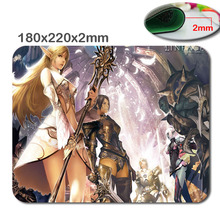 Cool Non-slip and Durable lineage 2 dark elf vs elf Silicon Anti-slip Mouse Mats Computer Laptop Notbook Gaming Mouse Mat