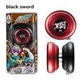 Venta caliente yoyo auldey negro espada de metal cnc rodamiento kk profesional accesorios malabares diabolo yoyo juguetes especiales envío gratis