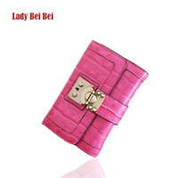 2015 New Fashion Women Short Pu Wallets Clutch Famous Brands High Quality Hot Sale Female Purse