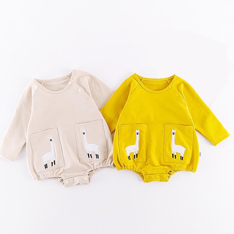 Nouveau-Né Bébé Combinaisons Infantile Garçon Fille Animal de Bande Dessinée Mignon Salopette pour Body Bébé À Manches Longues Vêtements Ropa Recien Nacido