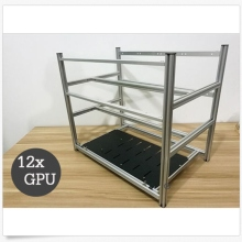 12 GPU Stackable Crypto Coin Aluminum Open Air Frame Mining Miner Rig Case  New Computer Mining Case Frame Server Chassis