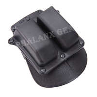 Paddle Double Magazine Pouch Holster CZ Shadow SP-01 PHANTOM 75D FN 9mm