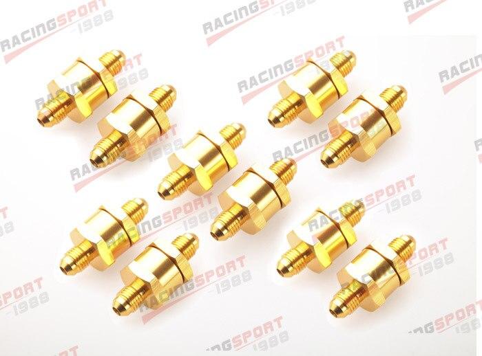10 pièces 6AN Carburant Retour Un Clapet anti-Retour Essence Diesel D'alliage D'aluminium OWV-07-SILVER-10