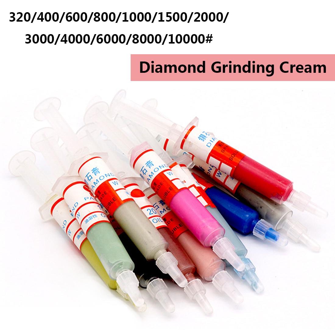 Grinding Polishing Power Tool Diamond Polishing Lapping Paste Compound Syringes Optional Micron Glass Metal Jade Abrasive Tools