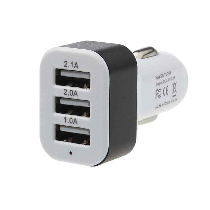 جديد DC 5.0 V 2.1A/2A/1A سيارة العالمي 12 V 24 V إلى 5 V 3 ميناء USB مهايئ شاحن ل هاتف ذكي ل فون سيارة مهايئ شاحن