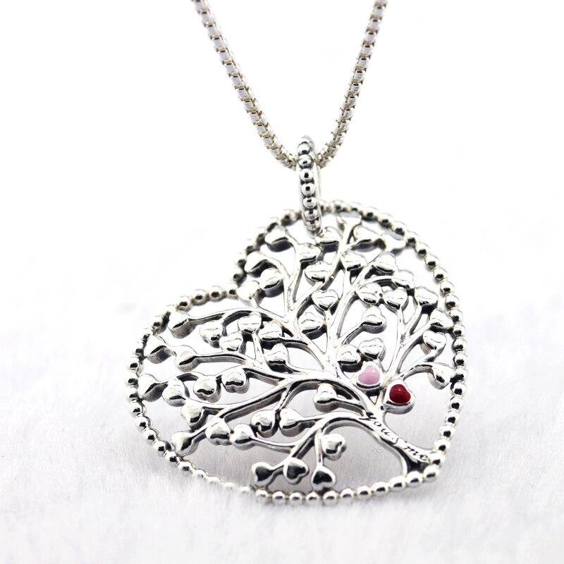 2018 nouveau pendentif et collier arbre d'amour 100% 925 argent Sterling saint valentin, bijoux fête des mères livraison gratuite