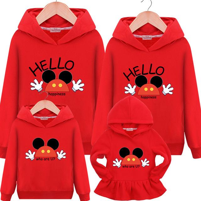 Familie Matchende Outfits 2019 Ny Hooded Sweatshirt