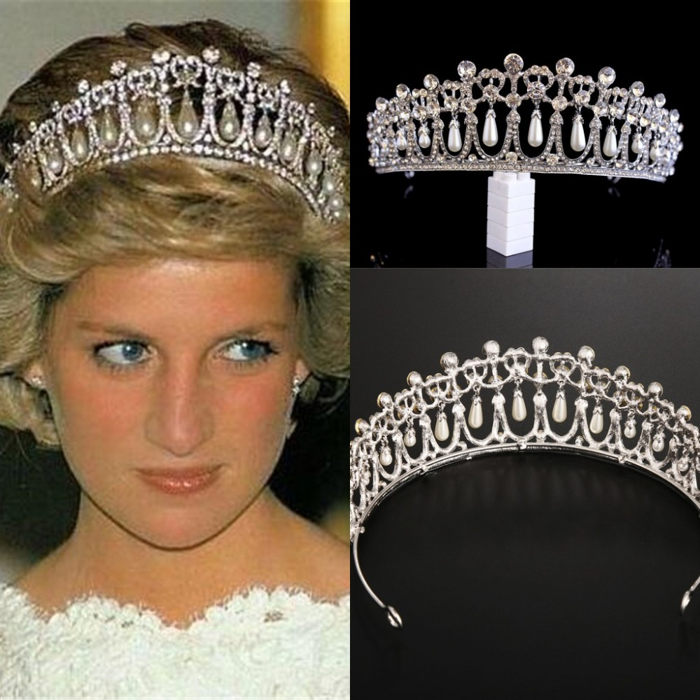 Crown Crystal Headbands Hair-Accessories Bride Tiara Tiara-De-Noiva Pearl-Diadem Silver-Queen