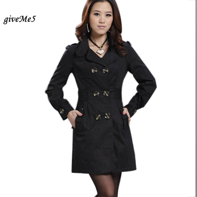 Spring Autumn Casacos Femininos New Fashion Style 3 Colors Trench Coat For Women Long Slim Double Breasted Coats 63