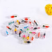 50pcs Transparent Capsule Shell Plastic Pill Container Medince Pill Cases Bottle Splitters Capsule Figurines DIY Accessories(China)