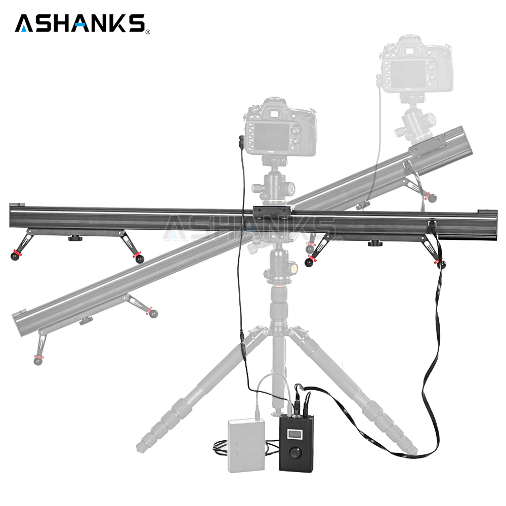 ASHANKS Aluminum Camera Slide Motorized Electric Delay Slider Track Rail Stabilizer for Photography Canon DSLR TimeLapse Video ashanks 60cm camera track slider 4 bearings rail slide aluminum alloy photography dv studio stabilizer for dslr video camcorder