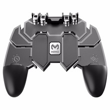AK66 Six Fingers PUBG Game Controller Gamepad Metal Trigger Shooting Free Fire Joystick For IOS Android Mobile Phone