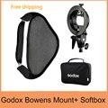 Godox S-type Soporte Speedlite Flash Bowens Mount Holder + 60x60 cm Softbox para la Fotografía de Estudio