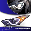 One-Stop Shopping Styling for Hyundai Elantra MD LED Headlights New Elantra DRL Lens Double Beam H7 HID Xenon Car Accessories