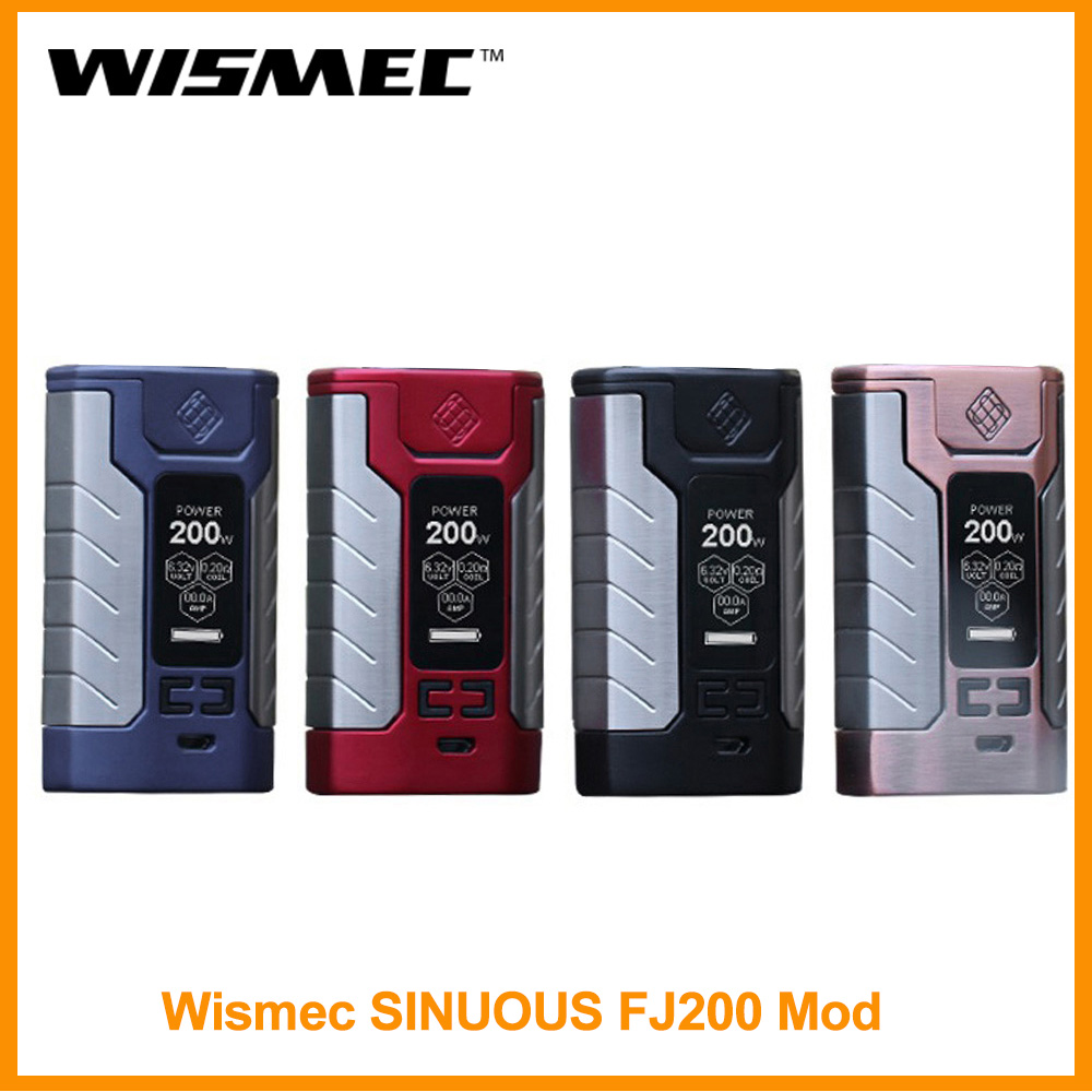 BIG SALE] 200W WISMEC SINUOUS RAVAGE 230 Box MOD Fit Gnome