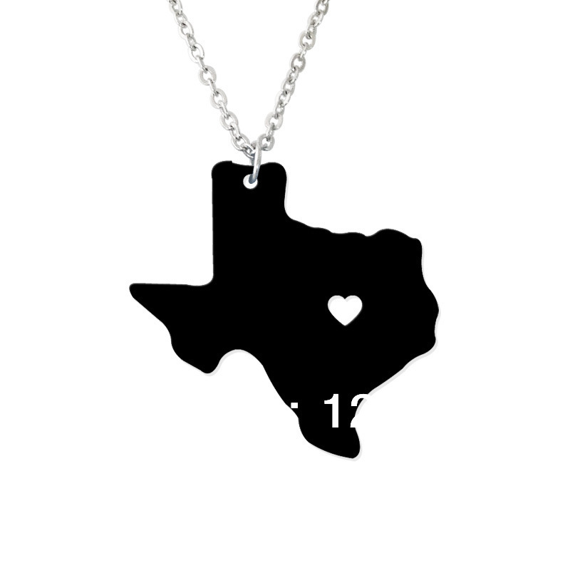 State jewelry i heart texas necklace map pendant state for Jewelry stores in texas