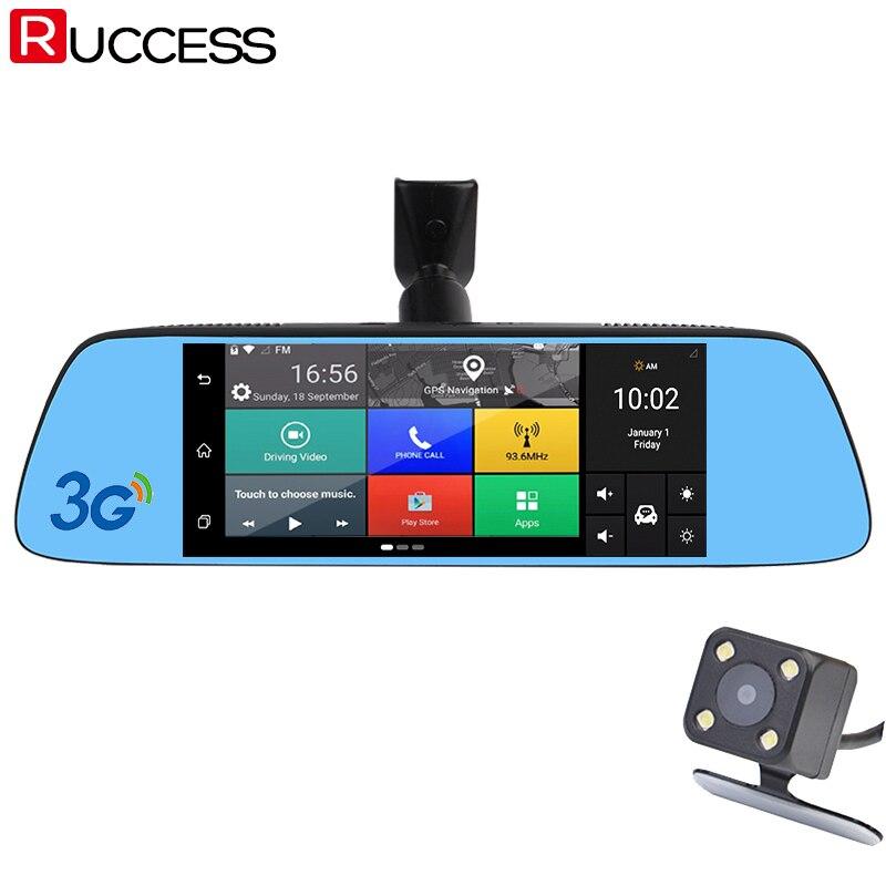 Ruccess 7 3g Специальное зеркало заднего вида dvr камера DVRs Android 5,0 с gps навигации Автомобильный видеомагнитофон регистраторы