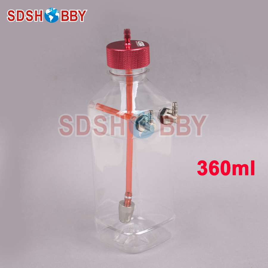 6STARHOBBY 360ml Transparent Fuel Tank for 26-40CC Gasoline Airplanes image