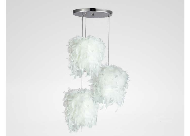 A1 French garden simple single head three head combination feather meal chandelier bedroom hallway Cafe Cafe ZL352