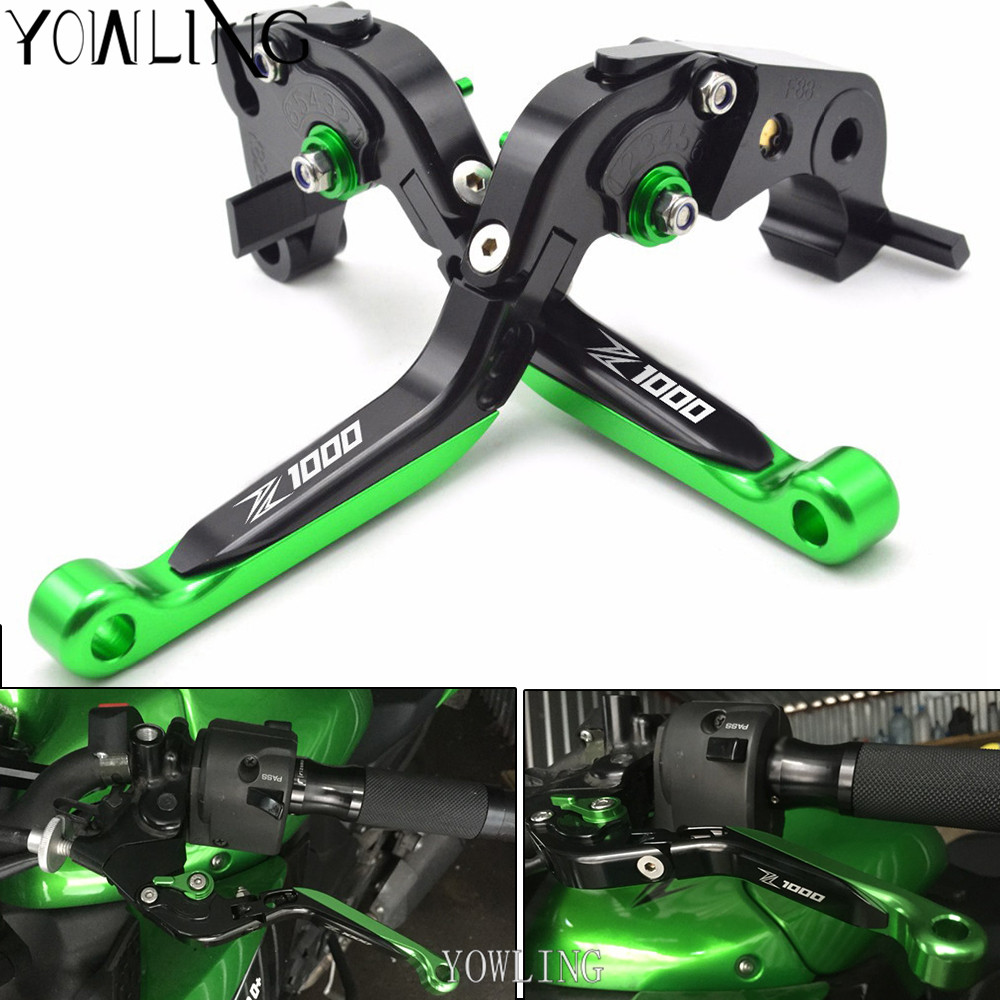 For Kawasaki Z1000 Z 1000 2007 2008 2009 2010 - 2016 Adjustable Motorcycle Brake Clutch Levers Brake Clutch Levers z1000 logo